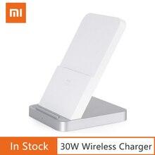 Оригинальное Беспроводное зарядное устройство Xiaomi с вертикальным воздушным охлаждением 30 Вт макс с зарядкой вспышки для смартфона Xiaomi Mi