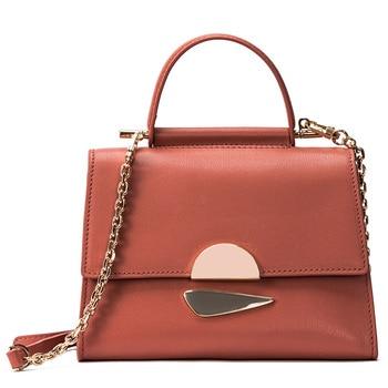 Women's 2019 New Chain Single Shoulder Oblique Bag Leather Handbag Fashion