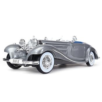 Maisto 1:18 1936 500K Typ Special Roadster Sports Car Static Simulation Diecast Alloy Model Car bburago 1 18 bugatti divo sports car static simulation diecast alloy model car