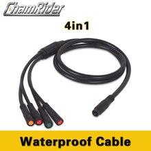 Camrider Julet от 1 до 4 основной кабель водонепроницаемый кабель для электрического велосипеда тормозной дроссель дисплей контроллер кабель интегрированный