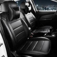 In pelle personalizzati copertura di sede dellautomobile per Per Volkswagen vw passat b5 polo golf tiguan jetta touran styling auto cuscino del sedile