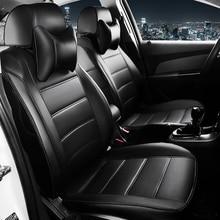 غطاء مقعد سيارة من الجلد المخصص لسيارة فولكس فاجن باسات b5 بولو جولف تيجوان جيتا توران وسادة مقعد تصفيف السيارة
