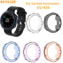 TPU Protector Cases For Garmin forerunner 45 45S watch Full Protective Case Smart Accessories replacement For forerunner 45 45S