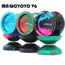 MAGICYOYO LOCUS New Arrival V6 Triple Colors Responsive Yoyo Alloy Yo Yo for Kids Beginners with Bag