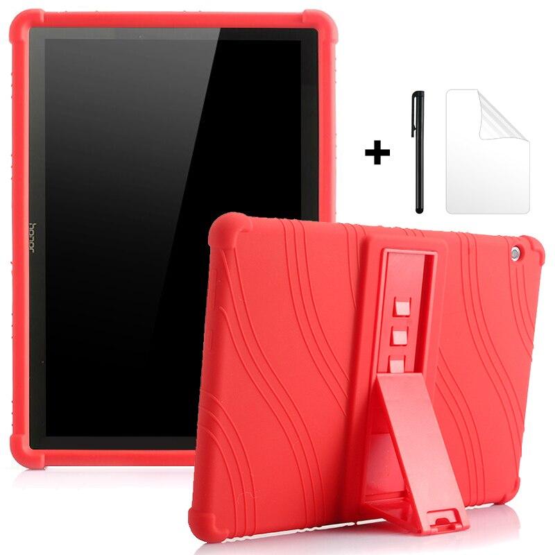 Чехол для Huawei MediaPad T5 10 T3 9,6 M6 10,8 M5 Lite 10,1 M5 8,0, детский противоударный чехол с подставкой, мягкие силиконовые чехлы