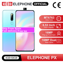ELEPHONE PX 4GB 64GB Smartphone 6.53″ FHD+ Screen 16MP Pop-up Front Camera MKT MT6763 16MP Dual Rear Cameras Android 9.0