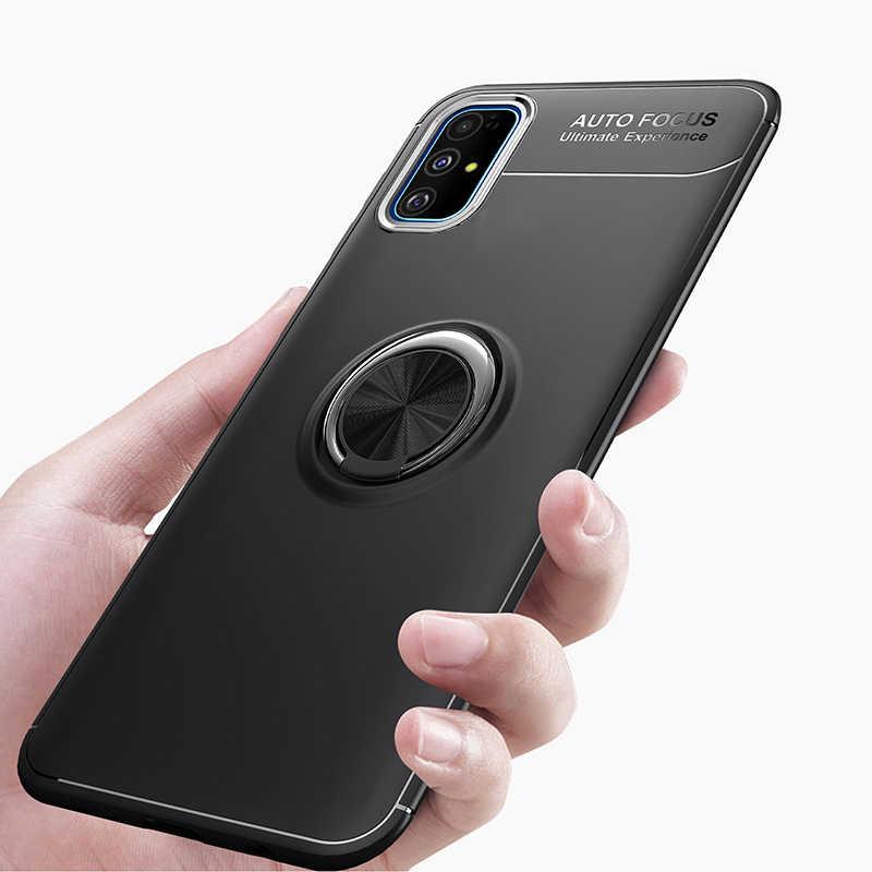 KEYSION טבעת טלפון מקרה עבור סמסונג S20 Ultra S10 + הערה 10 בתוספת עמיד הלם סיליקון כיסוי עבור A51 A71 A70 a50 A40 A30 20 10 M30S