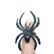 50 Pcs Useful Plastic Black Spider Halloween Decoration Festival Supplies Funny Prank Toys Decoration Realistic Prop Hot Sale