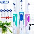 Oral B Sonic электрическая зубная щетка вращающаяся Vitality D12013 перезаряжаемая зубная щетка гигиена полости рта зубная щетка зубные головки