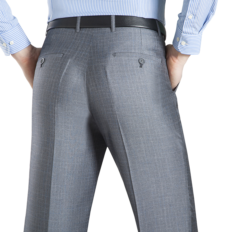 Summer Business Thin Suit Pants For Men 29 50 Spring Autumn Male Formal Stretch Solid Silk Innrech Market.com