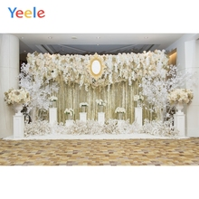 Yeele Wedding Ceremony Flowers Decors Wall Interior Photography Backdrops Personalized Photographic Backgrounds For Photo Studio