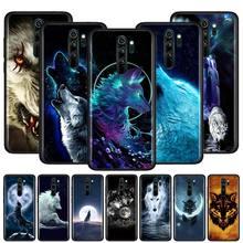 Cover for Redmi Note 9 9S 9 9A 9C 8T 8 7S 7 6 Pro 8 7 6 8A 7A 6A K20 K30 Pro Phone Shockproof Case Blue Eyes Wolf