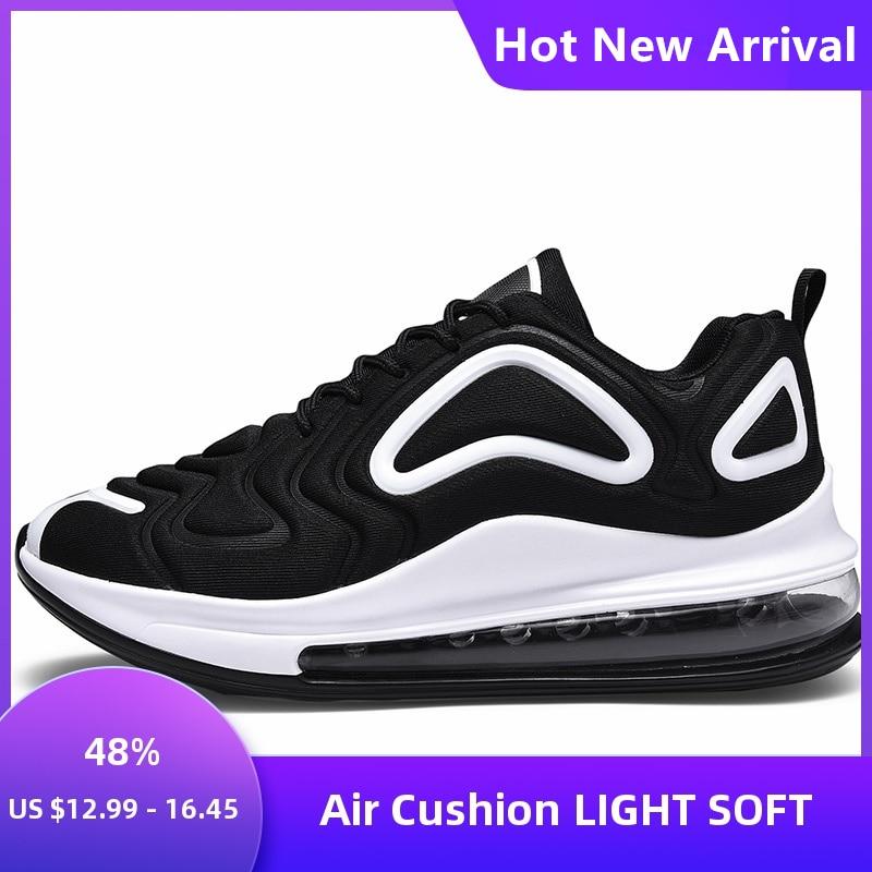 NEW Ultralight Air Cushion Men's Sports Shoes Unisex Men Women Platform Sneakers Cotton Fabric Comfortable Couple Running Shoes