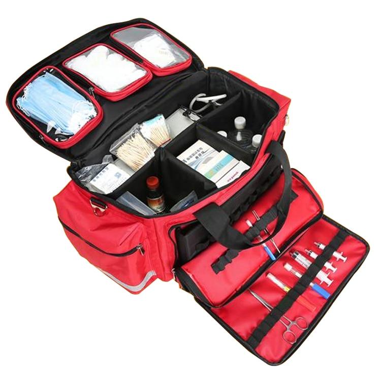 Outdoor First Aid Medical Bag Isolation Multi-pocket Large Storage Portable Cross Emergency Medical Bag Sports Travel Nylon Bag (9)