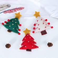 3Pcs/Set Cute Christmas Tree Pendant Ornaments Handmade Fabric Decoration