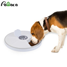 Automatic pet feeder with 6 meals 6 grids of cat dog food electric food distribution device dry food dispenser feeding 24 hours все цены