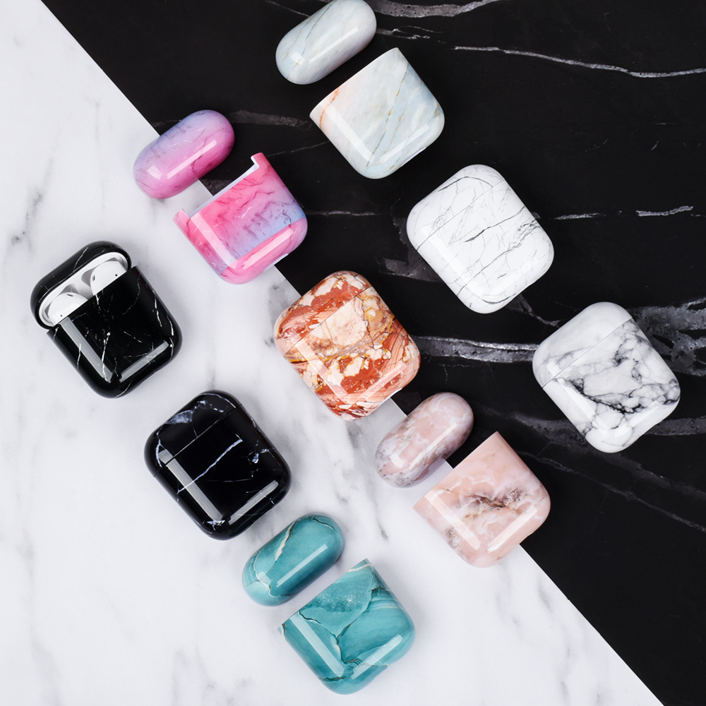 Luxury Case For Airpods 2 Case Marble Earphone Cases For Apple Airpods Wireless Bluetooth Headphone Cover For Air Pods Skin