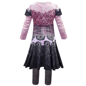 Image 2 - Pink Audrey Costumes girl Halloween Costumes for Kids Fancy Party women Costume evie descendants 3 Mal Cosplay Fantasia costumes