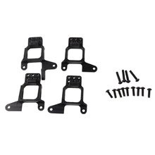 4PCS Front And Rear Aluminum Alloy Shock Absorbers Bracket Suspension Bracket For 1/10 Traxxas TRX4 T4 D90 D110 RC Car 4pcs aluminum rear suspension arm set upper