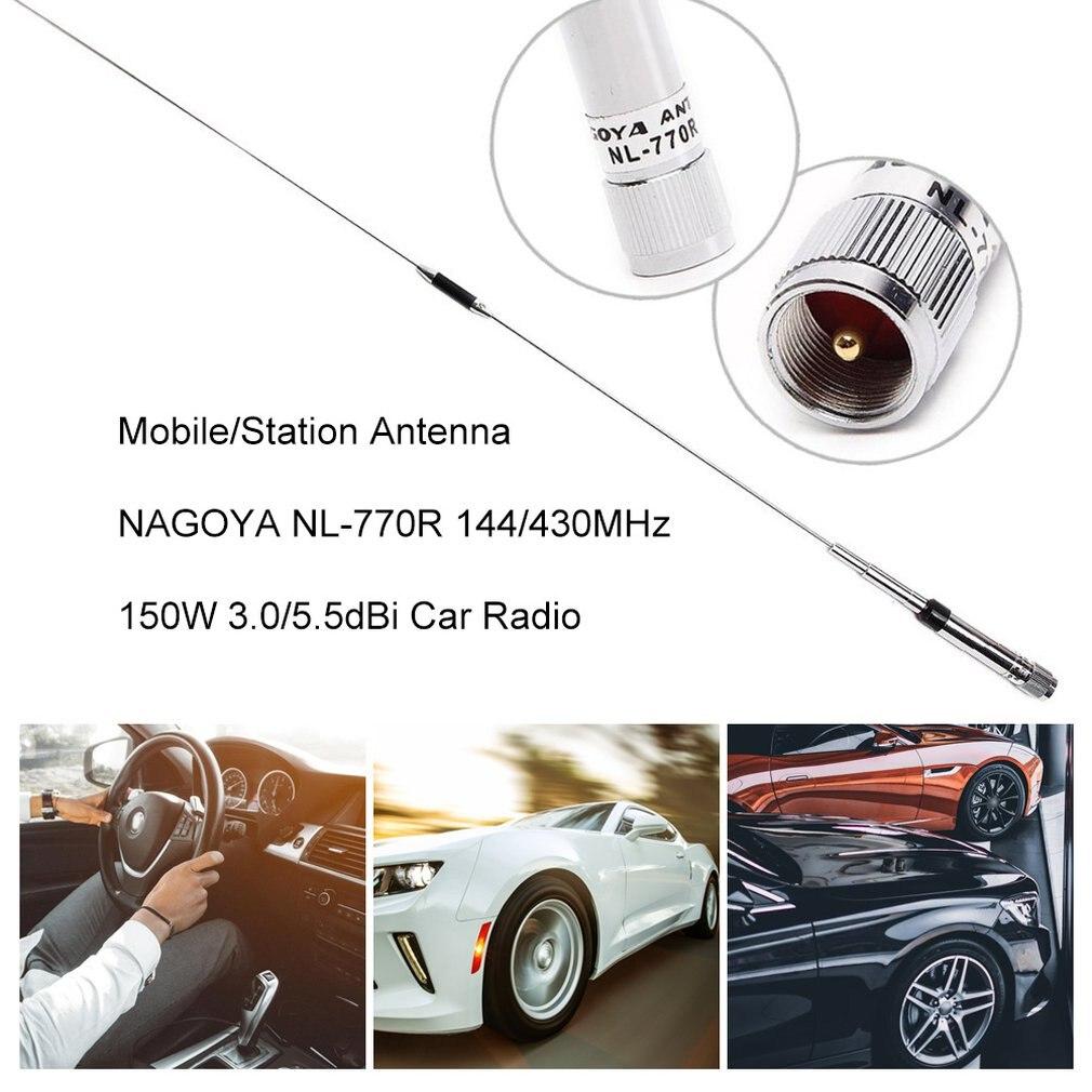 Mobile/Station Antenna NAGOYA NL-770R 144/430MHz 150W 3.0/5.5dBi Car Radio Dual Band 150W High Gain Car Radio Antenna