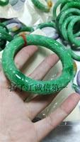 Natural Myanmar green jade bangle hand carved Dragon jade bracelets jade bangles jewelry jadeite add certificate jade jewelry