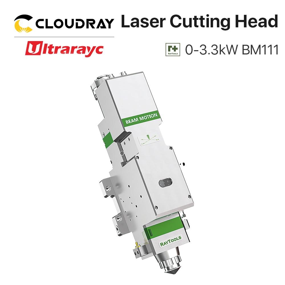 Ultrarayc BM111 Raytools Fiber Laser Cutting Head 0-3300W Auto Focusing D30 Lens For Metal Cutter Machine