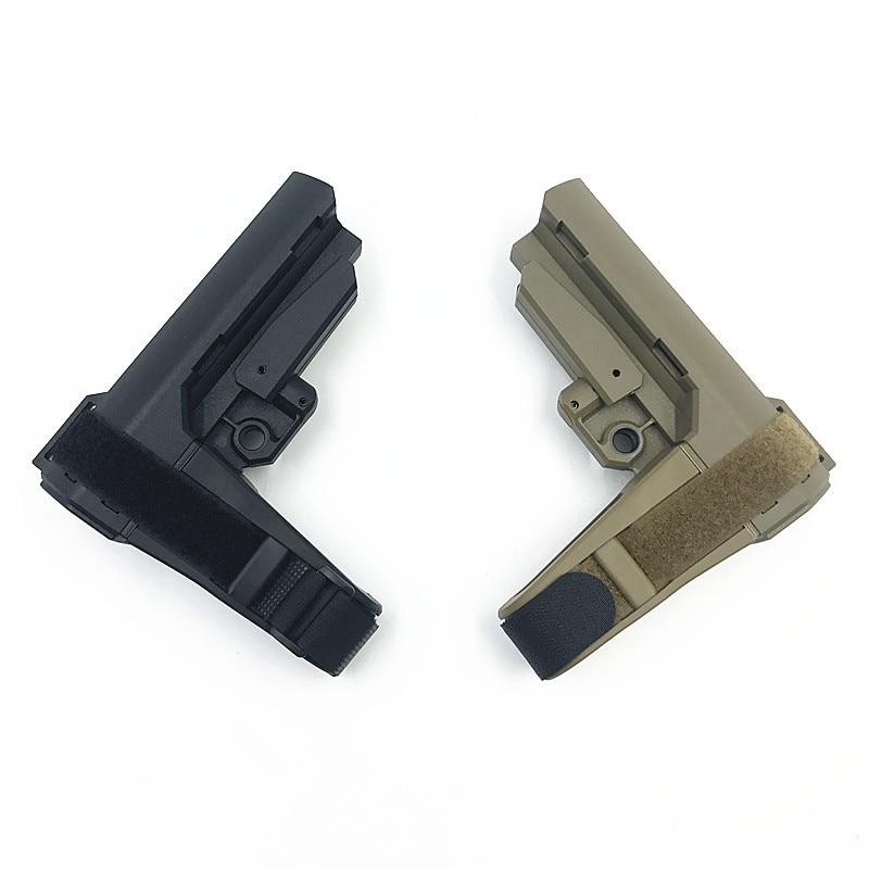 Sports de plein air CS équipement de jeu tactique en nylon Stock pour pistolet jouet accessoires mis à jour pour M4 HK416 gel balle jouet pistolet pièces