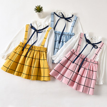 Little Girl Princess Dress Spring Long Sleeve Child Dress Toddler Girl Autumn Baby Clothes Costumes Plaid 1 2 3 4 Years 2020 girl dress baby clothing spring autumn new style floral girl princess dress in long sleeve retro