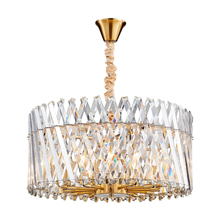 New transparent crystal chandelier LED lustre simple fashion living room lamp romantic