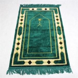 Image 1 - 70*110cm Cashmere Like Islamic Muslim Prayer Mat Salat Musallah Prayer Rug Tapis Carpet Tapete Banheiro Islamic Praying Mat PM20