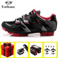 Tiebao sapatos de ciclismo masculinos  conjunto de pedal adicionado spd 2019  sapatilhas para mountain bike  sapatilhas deportivas para uso ao ar livre