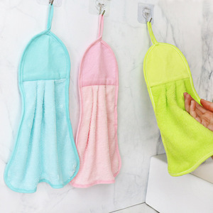 2pcs Super Absorbent Microfiber Hanging Cleaning Wiping Rag kitchen Dish Cloth Tableware Household Cleaning Towel Kichen Tools