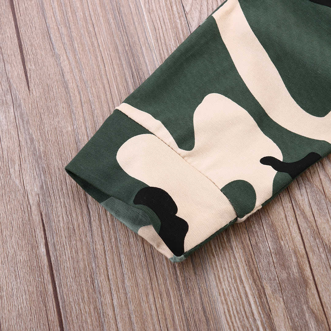 New Babies Summer Short Sleeve Tshirt Tops+Camouflage Pants 2pcs Outfit Newborn Baby Kids Boys Outfits Clothes  Clothing Sets