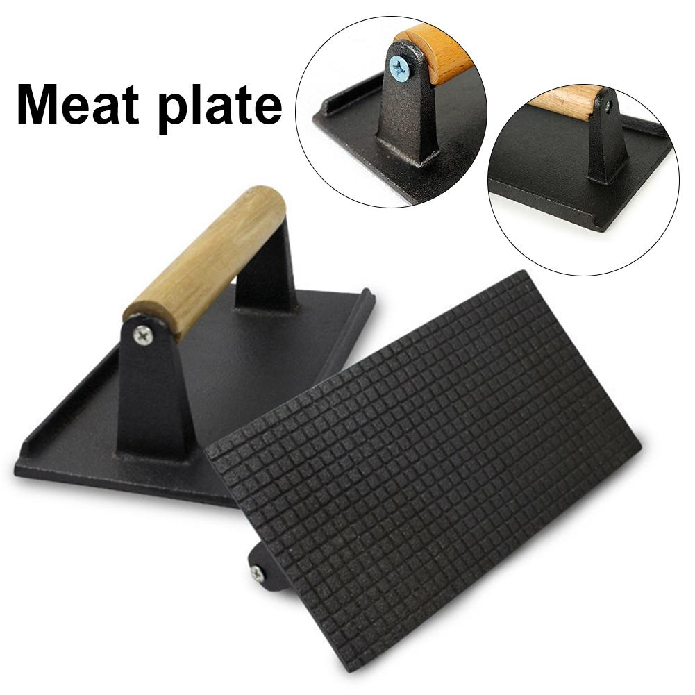 "Fonte barbecue grill steak poids 8/"" Barbecue Bacon Press poids lourd"