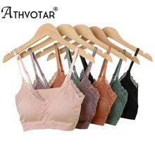 ATHVOTAR – soutien-gorge en dentelle pour femmes, sous-vêtement français, Sexy, couleur unie, confortable, réglable sans fil, nouvelle collection