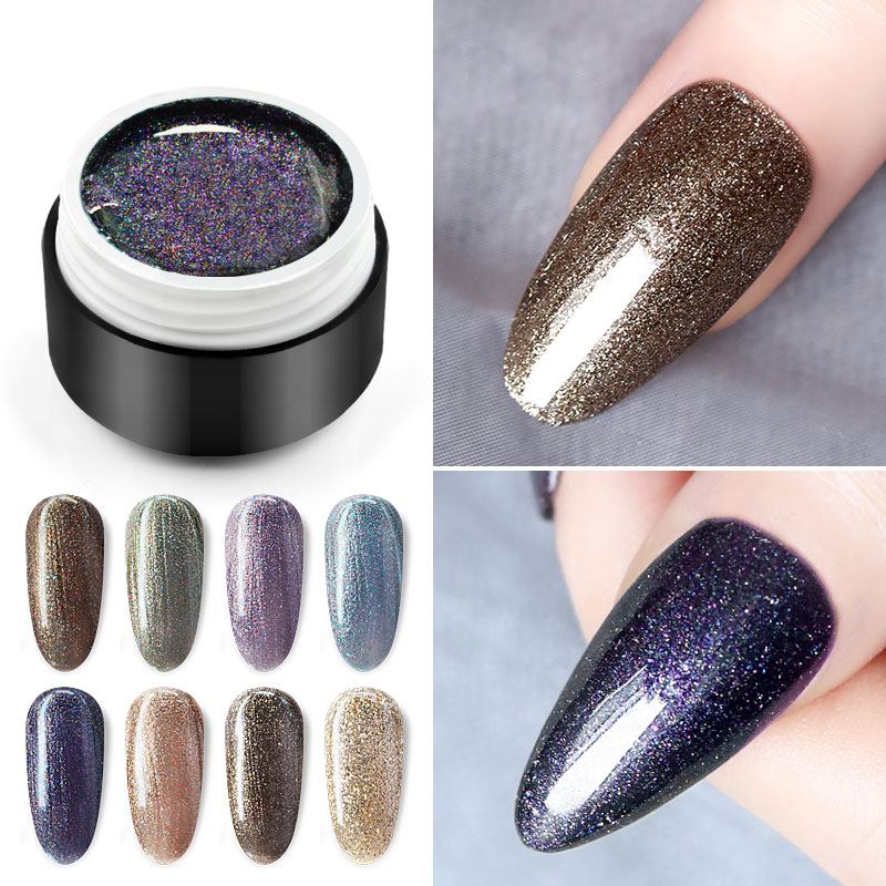 GDCOCO New Arrival Glitter Shinning Nail Gel Polish Painting Gel Laser Galaxy Gel Varnish Luxury Starry Color Nail Gel Lacquer
