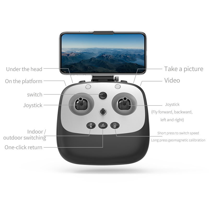 1KM 30 Minutes RC Quadcopter Gimbal Stabilizer Brushless Motor Drone With 4K HD Adjustment Camera WIFI FPV FOLLOW ME GPS Drone