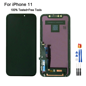 цена на For iPhone 11 Screen LCD Display Touch Screen Digitizer Assembly For iPhone11 OLED OEM LCD Display With 3D Touch