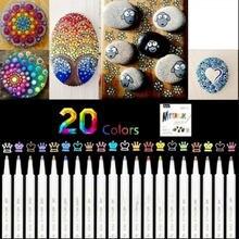 12/18/24/36 cores 0.7mm acrílico tinta marcador caneta arte marcador para cerâmica pedra vidro porcelana caneca de madeira tela lona pintura