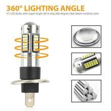 Dropshipping! 10W samochód H1 projektor LED żarówki do lamp przeciwmgielnych zestaw światła drogowe DRL Super Bright 6000K białe światła samochodowe akcesoria samochodowe tanie tanio JOSHNESE 12 v CN (pochodzenie) H1 LED Fog Light Bulbs Kit H1 Socket 4014 Chip 360 Degree White DC 12V 600LM 80000 Hours