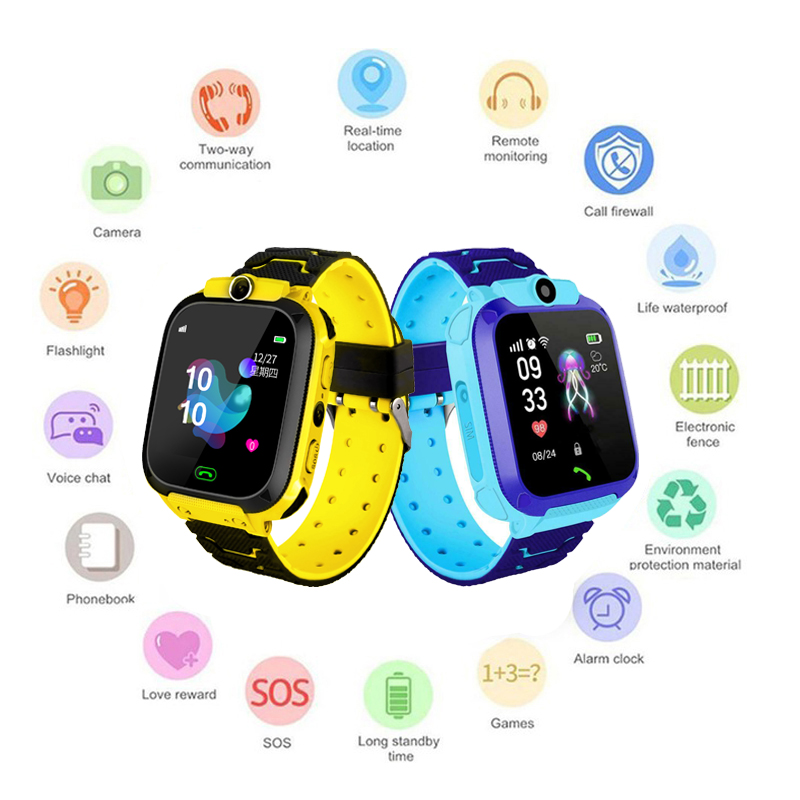 Digital Watch Positioning Tracking LBS Children Smart Watches Baby Anti-lost Tracker Watch IOS Android Smart Watch Kids Gifts