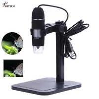 Microscopio Digital USB profesional 1000X 800X 8 LED 2MP microscopio electrónico endoscopio Zoom Cámara lupa + soporte de elevación