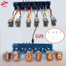 zirrfa 6-bit Nixie Glow Clock Motherboard Core Board Control Panel universal in8 in8-2 in12 in14 in18 qs30-1, No tubes