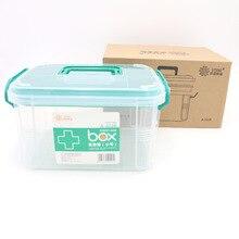 В японском стиле многослойная многокомпонентная Бытовая большая медицинская коробка для лекарств детская семейная коробочка для медицинских целей Storag