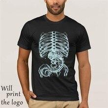 T-shirt classica Alien Bone Uomo A Medio Manica Corta T-Shirt Alien Patto di Cotone Morbido Estate Banda Tees Ragazzi Camicia