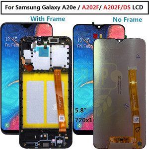 For Samsung Galaxy A20e A202 A202F A202DS Display Touch Screen Digitizer Assembly A202 A202F/DS For SAMSUNG A20e LCD with frame(China)
