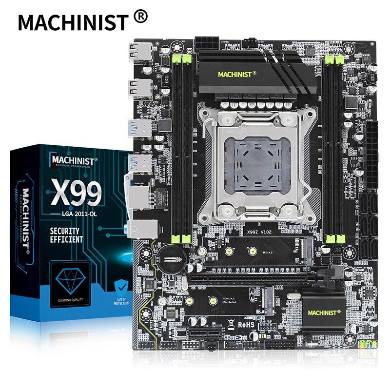 Материнская плата X99 для настольных ПК LGA 2011 3 LGA2011 3 с двойным M.2 NVME слотом, поддержка четырех каналов DDR4 ECC SATA3.0 USB3.0|Материнские платы|   | АлиЭкспресс