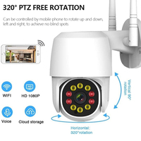 1080P Ip Camera Outdoor Waterdichte Ai Menselijk Detecteren Surveillance Home Security Ir Nachtzicht Camera Wifi Draadloze Cctv Monitor