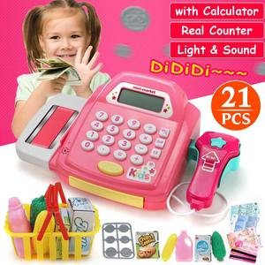 Cash-Register Groceries Toys Supermarket Toddler Boys Children Playset Pretend-Play-Simulation