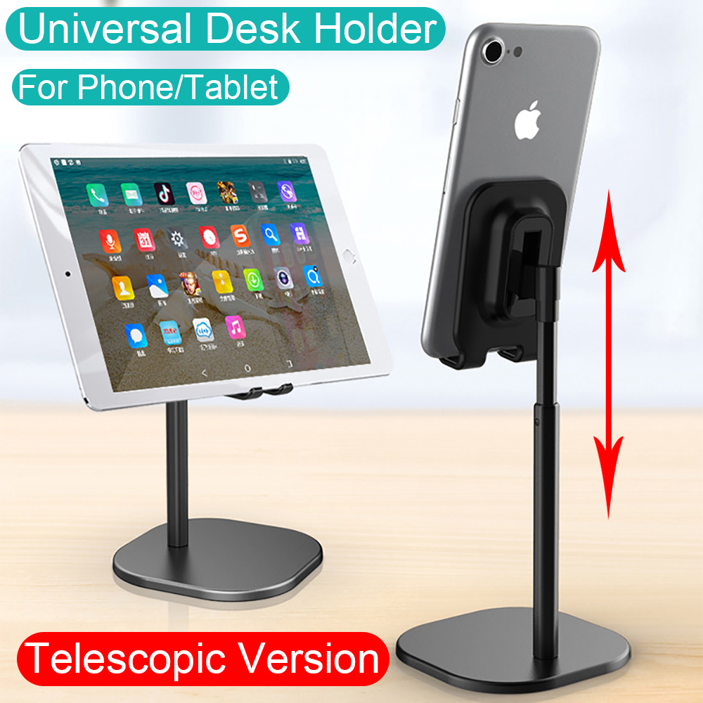 Universal desk Telescopic cell Phone Holder Stand For Mobile Phone/Tablet Desktop cellphone Holder for iphone ipad xiaomi stand
